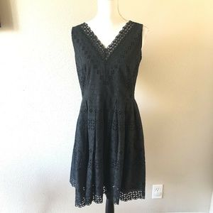ANN TAYLOR LOFT Lace Scalloped Fit & Flare Dress
